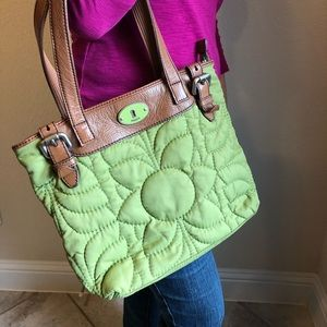 Fossil Key per Quilted Tote